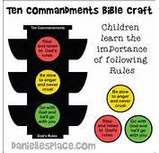 Ten Commandment Trafic Sign Craft For Kids From Wwwdaniellesplacecom