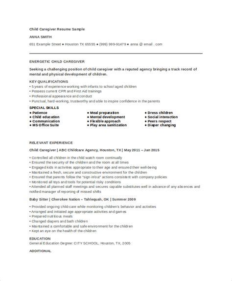 sle of caregiver resume 28 images caregiver resume canada