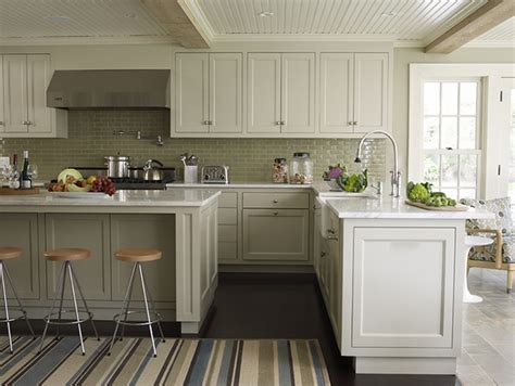gray green kitchen cabinets beadboard ceiling cottage kitchen marshall watson interiors