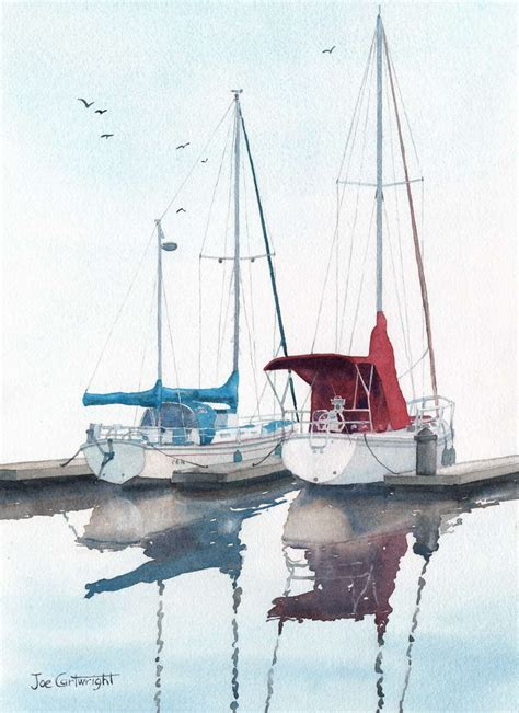 sailing boat watercolour watercolor paintings boats and the sea gallery seascapes