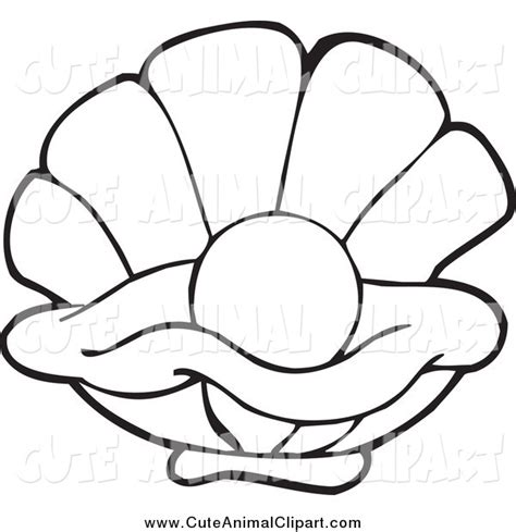 Oyster Shell by Clip Art Black And White Iris Clipart
