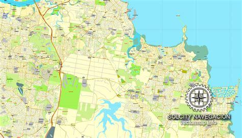 printable map brisbane cbd brisbane australia in adobe pdf printable vector street