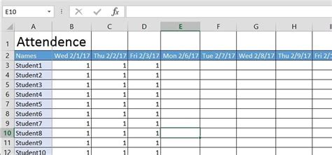 how to sheets how to create a basic attendance sheet in excel