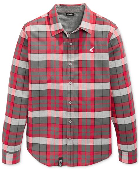 Rok Flanel Tartan lrg big and rock bottom plaid flannel shirt in