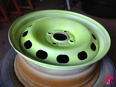 glow in the paint rims how to refurbish paint steel wheels