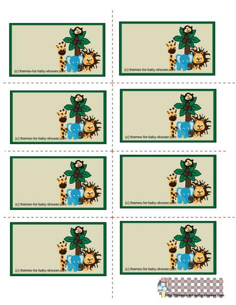 printable jungle animal labels divertido kit de la selva para baby shower para imprimir