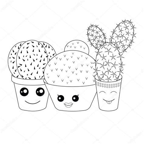 dibujo de cactus con sombrero para colorear colorear con cactus archivo im 225 genes vectoriales
