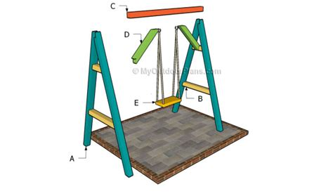 simple a frame swing plans how to build a swing frame building a loft bed ladder
