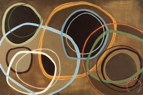 abstract paintings with circles jeni 14 friday ii brown circle abstract painting 14