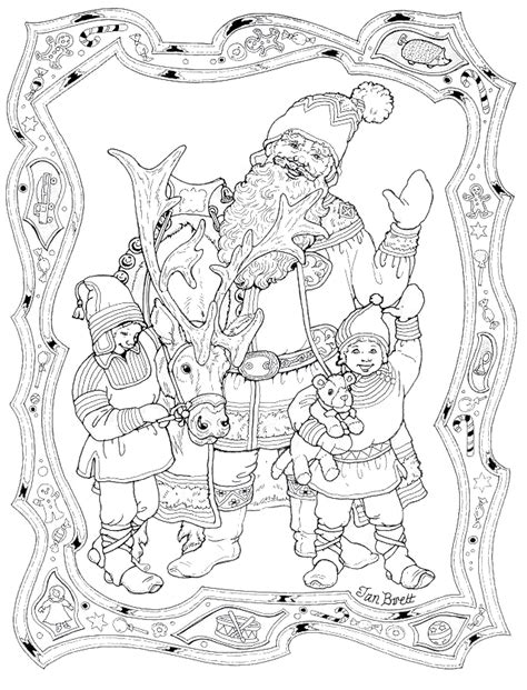 coloring pictures of santa and his elves santa elf to colour new calendar template site