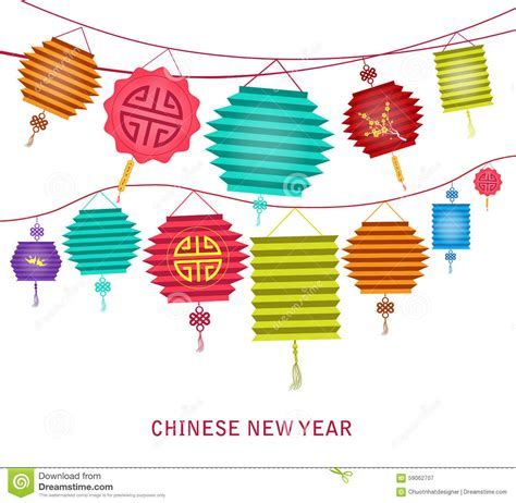 Lantern Hanging Decoration lantern clipart new year decoration pencil and