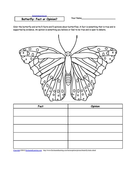 Primary Explorers Human writing worksheets insects at enchantedlearning