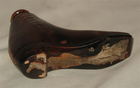 boot shaped an rockingham glazed 19th century novelty boot shaped