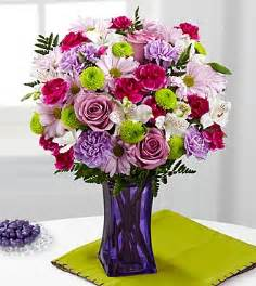 Traditional Vase The Ftd 174 Purple Pop Bouquet Vase Included