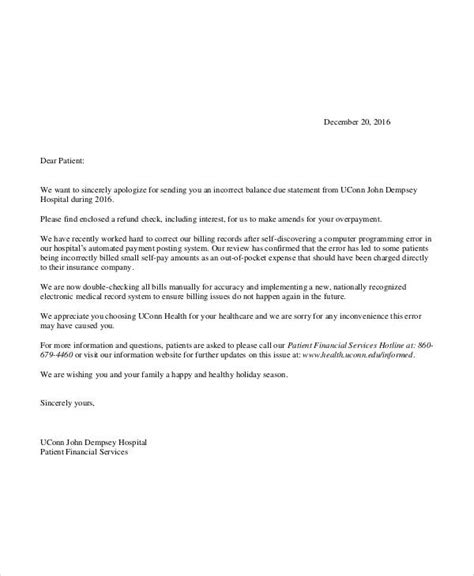 Customer Refund Letter Apology Letter Exles