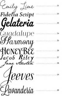 Merry brides 50 fonts best fonts for wedding invitations