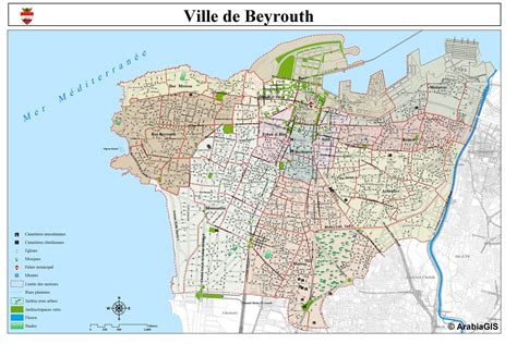 My Last In Beirut Free Beirut Lebanon Map My