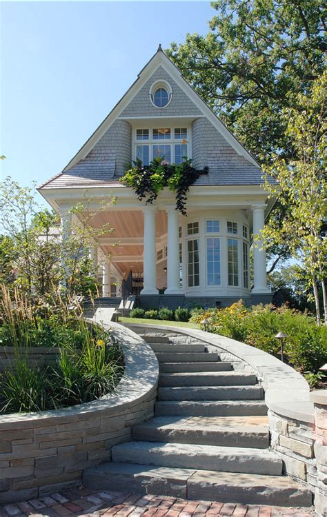 shingle style cottage traditional lake house home bunch interior design ideas