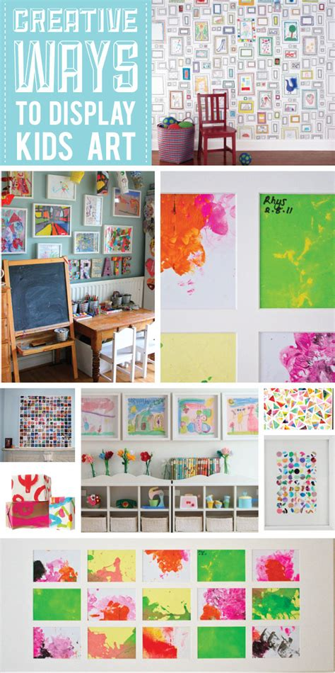 ways to display artwork creative ways to display kids art stuck on you