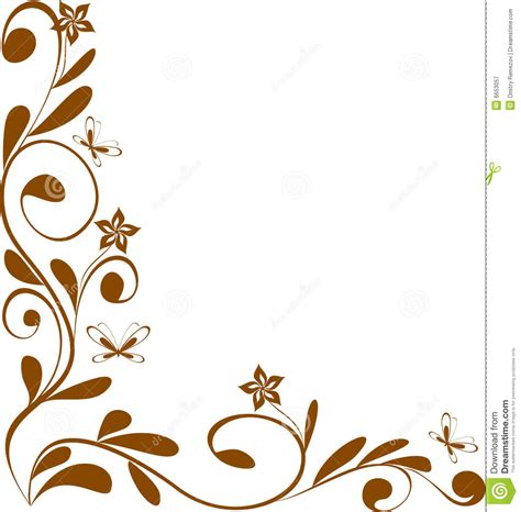 floral design corner stock vector image of decoration 6653057