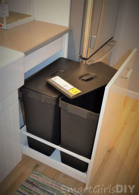 american sized garbage cans pullout  ikea sektion base cabinet  lids dream house
