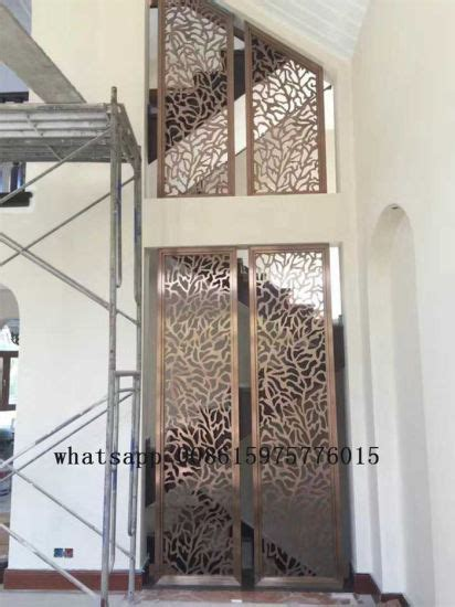 China Metal Stainless Steel Laser Cut Screens Decorative