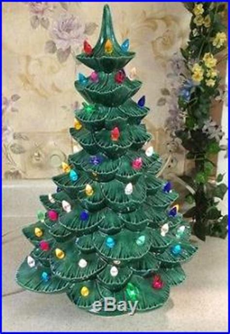 green ceramic tree with lights vintage green ceramic tree with dove lights and
