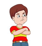 boy sulking free emotions clipart clip art pictures graphics