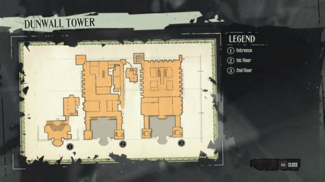 Dishonered 2 Floor - image dunwall tower map png dishonored wiki fandom