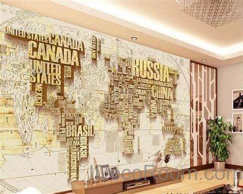 abstract world map nation  wallpaper wall decals wall