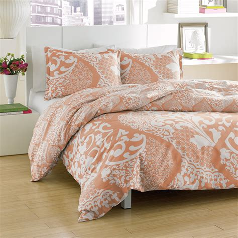 coral bedding sets city scene medley coral comforter and duvet sets from