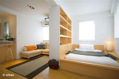 bed in living room small 450 square feet apartment design in hong kong