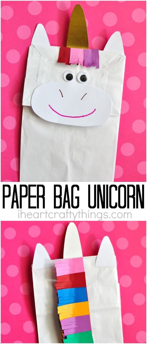 How To Make A Paper Unicorn - how to make a paper bag unicorn craft unicorn crafts