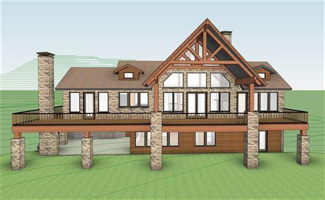 revit house plans lake house lodge style vantage building consulting design