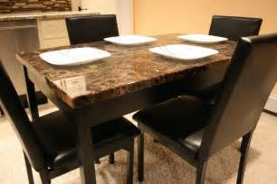 Marble Dining Table With Bench 5 Pc Faux Marble Top Dinette Dinning Set Dining Table 4 Chairs Faux Leather Ebay