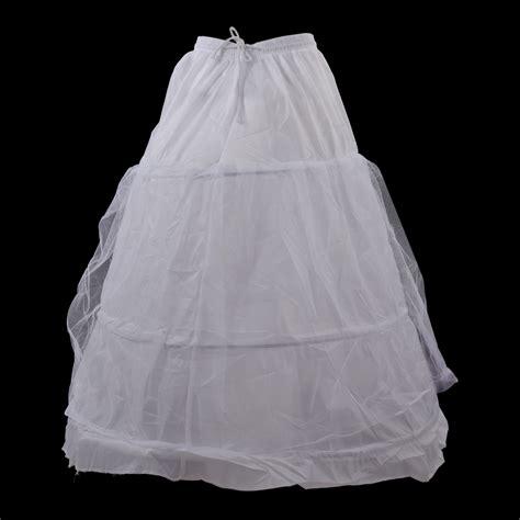 Wedding Dress Underskirt by White A Line 3 Hoop 2 Layer Bridal Wedding Gown Dress