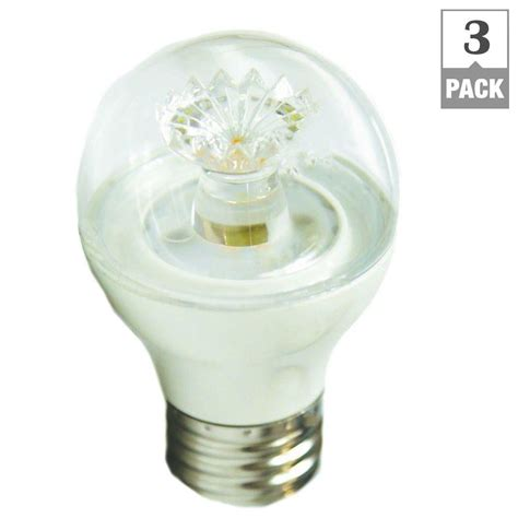 ecosmart 60w equivalent white g16 5 dimmable clear