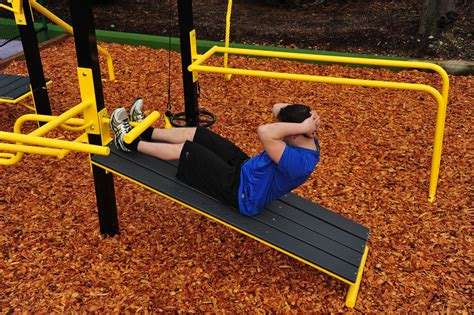 outdoor sit up bench outdoor fitness equipment stayfit systems