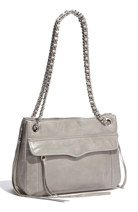 rebecca minkoff swing rebecca minkoff swing double chain leather shoulder bag in