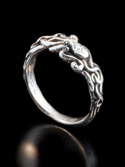 silver octopus ring ring twist octopus ring