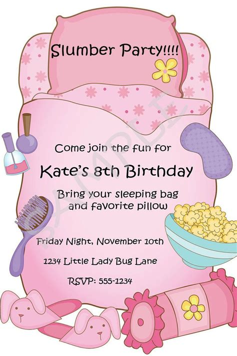 free sleepover birthday invitations printable free printable slumber birthday invitations ideas for slumber