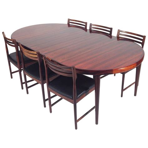 rosewood dining room set rosewood dining room set rosewood swedish dining set at