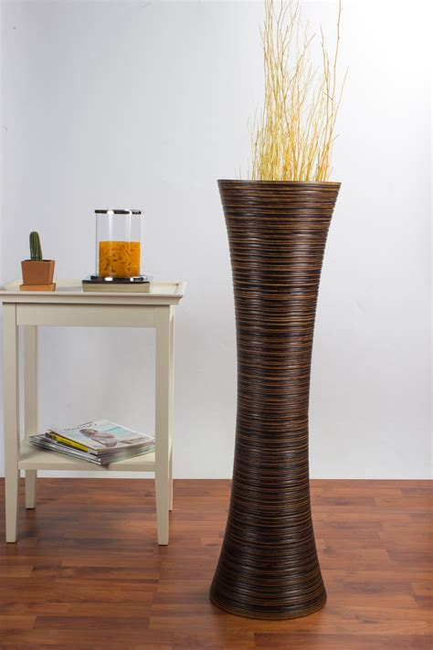 Floor Vases 36 Inches by Brown Floor Vase 36 Inches Wood Brown Leewadee