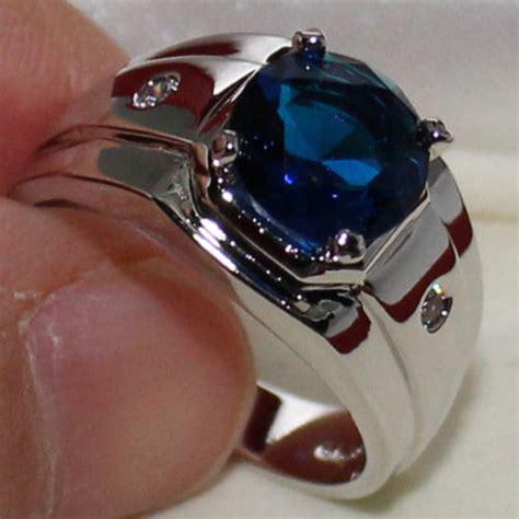 Cincin Cowok Stainless Asli Cincin Pria Stainless Lk 003 cincin pria eternal blue sapphire stainless steel solitaire prong elevenia