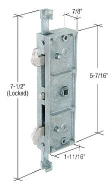 Milgard Patio Door Parts Two Point Mortise Lock Milgard 16542 72 20 Patio Door Parts Your Best Source For Sliding