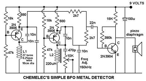 bfo metal detector circuit diagram rwandatechnician metal detectors