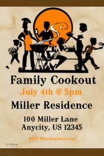 Cookout Flyer Template by Family Cookout Flyer Template Postermywall