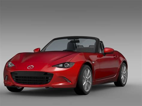 mazda car models 2016 mazda mx 5 nd 2016 3d model cgtrader com