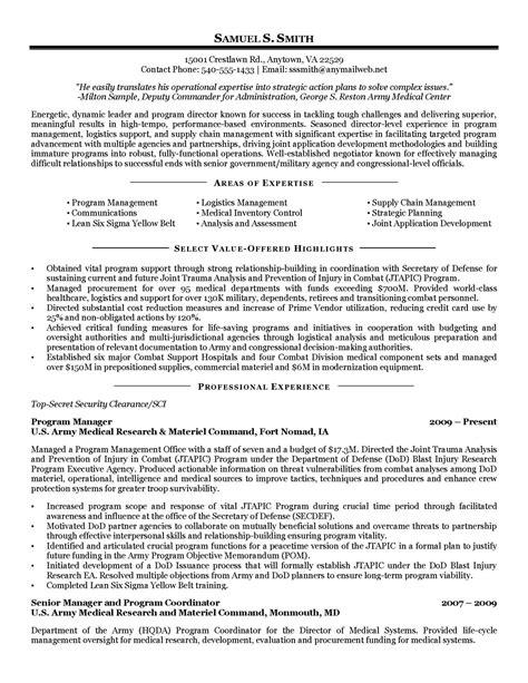 military resumes samples military veteran resume examples job