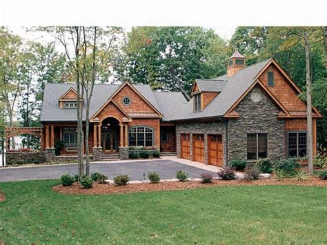 Cabin Plans With Garage Craftsman Home Plans With Detached Garage Cottage House
